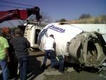 Cement truck Rollover